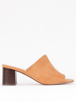 evans-extra-wide-fit-heeled-mule