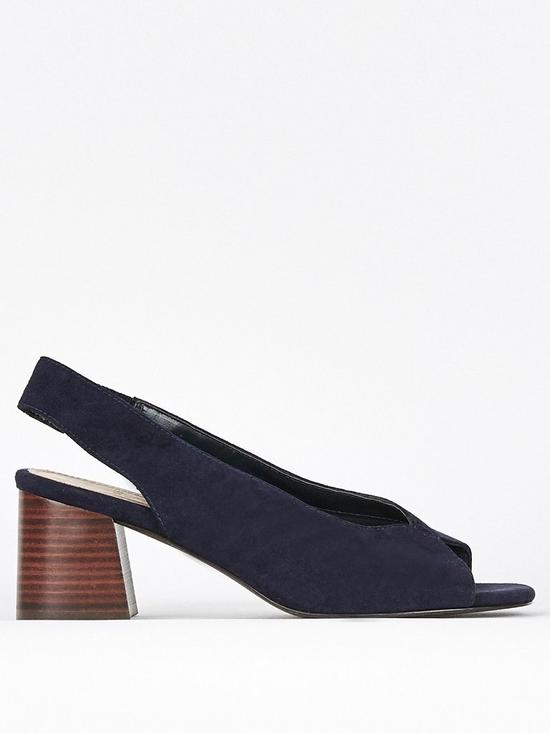 e73d2b210b031 Evans Extra Wide Fit Halley Heel Shoes - Navy | very.co.uk