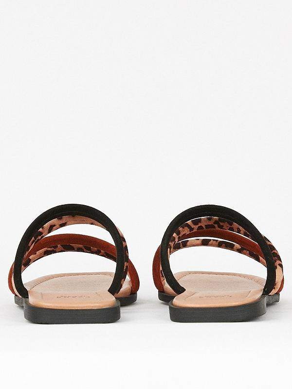 3d13c689f604 Evans Extra Wide Fit Padded Strap Mules - Multi | very.co.uk