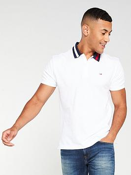tommy-jeans-contrast-collar-logo-polo-shirt-white