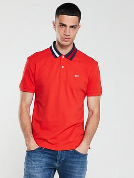 tommy-jeans-contrast-collar-logo-polo-shirt-red