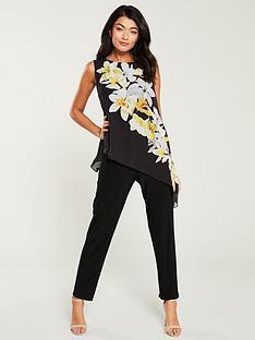 wallis-lemon-orchid-overlaynbspjumpsuit-black