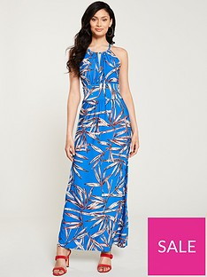 wallis-bamboo-maxi-dress-blue
