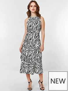 be6dc5631ff Wallis Petite Monochrome Zebra Dress - Black White