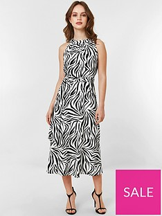 e502b752 Wallis Petite Monochrome Zebra Dress - Black/White