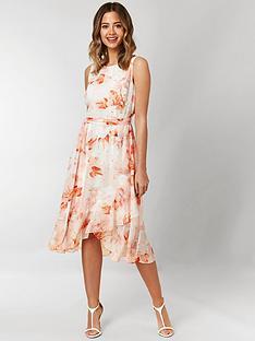 wallis-wallis-petite-confetti-floral-tiered-hem-dress