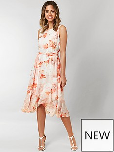 wallis-wallis-petite-confetti-floral-tiered-hem-dress