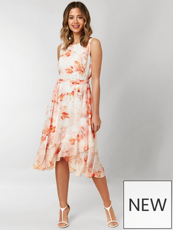 2382a4bdf0d Wallis Wallis Petite Confetti Floral Tiered Hem Dress
