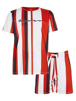 river-island-boys-stripe-mesh-shorts-outfit-red