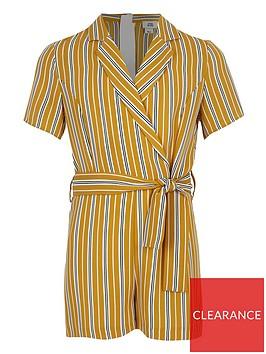 river-island-girls-stripe-wrap-playsuit-yellow