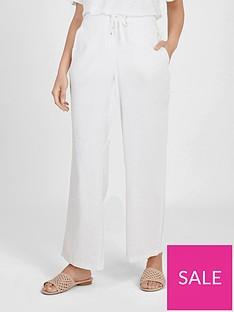 evans-linen-blend-trousers-white