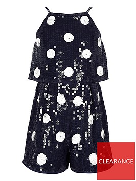 river-island-girls-polka-dot-sequin-playsuit-navy