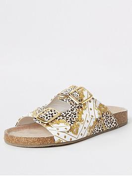 river-island-girls-baroque-buckle-sandals-brown