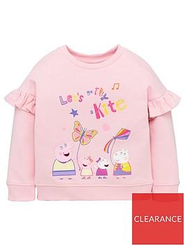peppa-pig-girls-frill-sleeve-sweat-top-pink