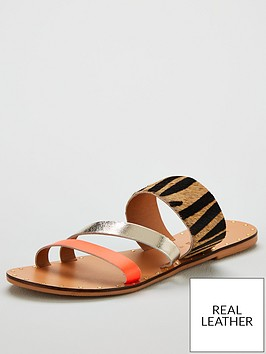 v-by-very-hailey-neon-trim-leather-strappy-sandals-orange