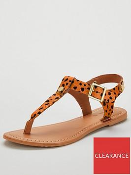 v-by-very-heaven-leather-toe-post-sandals--nbspanimal-printnbsp