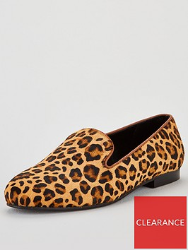 v-by-very-mel-leather-slipper-cut-loafer-leopard