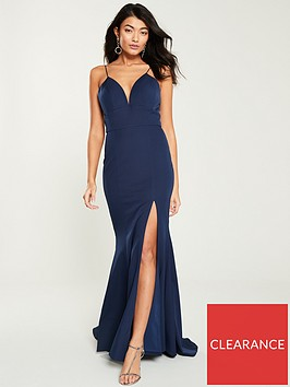 jarlo-anya-cami-strap-fishtail-maxi-dress-navy