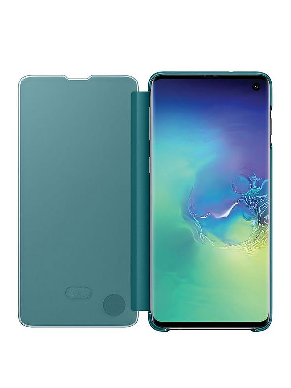 Wall with Peeling Green Blue and White Paint Samsung S10 Case
