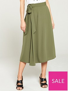 v-by-very-solid-crepe-tie-waist-skirt-khaki