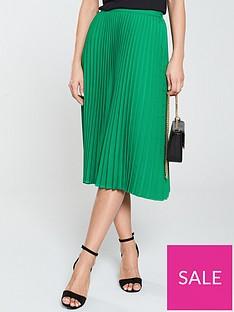 v-by-very-pleated-midi-skirt-green