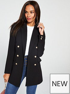 73bef76181 V by Very Longline Blazer - Black