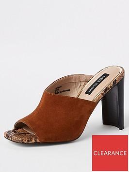 river-island-river-island-suede-asymmetric-heeled-mules--tan