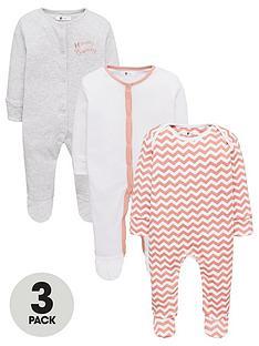 v-by-very-baby-girls-3-pack-honey-bunny-chevron-sleepsuits-multi