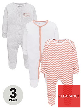 v-by-very-baby-girls-3-pack-honey-bunny-chevron-sleepsuits-multi