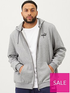 puma-plus-size-essentials-full-zip-hoody-grey