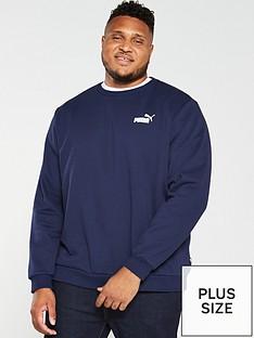 puma-plus-size-essential-logo-crew-neck-sweat-navy