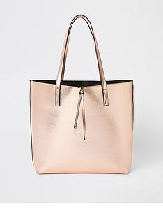 7ebcdb3d7189 River Island River Island Pocket Front Shopper- Rose Gold