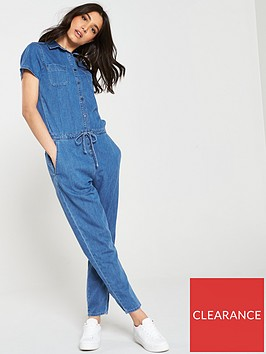 river-island-river-island-denim-button-through-jumpsuit--mid-blue