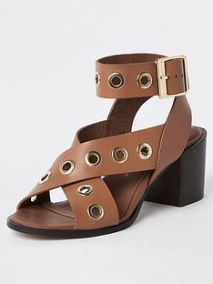 09800581cd Leather | River island | Sandals & flip flops | Shoes & boots ...