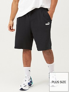 puma-plus-size-mens-essentials-sweat-shorts-black