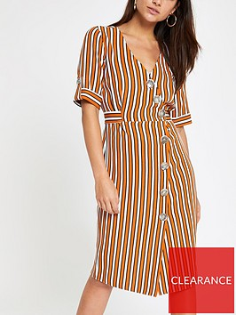 ri-petite-ri-petite-button-detail-stripe-midi-dress-orange