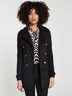 24a54228b7 River Island Longline Jacket- Black