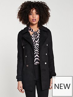 f49645276a6 River Island Longline Jacket- Black