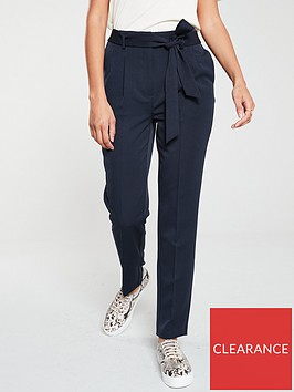 v-by-very-tie-waist-taperednbsptrouser-navy