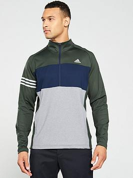 adidas-golf-14-zip-sweat-grey