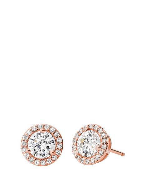 michael-kors-sterling-silver-14k-rose-gold-plated-stud-earrings