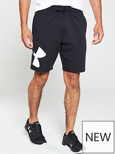 under-armour-rival-fleece-logo-sweat-shorts-blackwhite