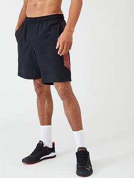under-armour-woven-graphic-shorts-blackred