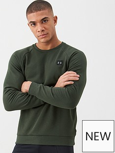 under-armour-rival-fleece-crew-greenblack