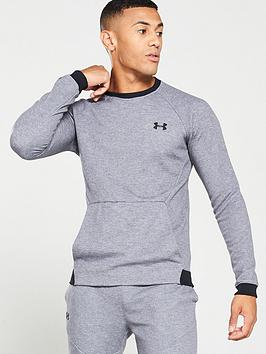 under-armour-unstoppable-2x-knit-crew-neck-sweat-greyblack