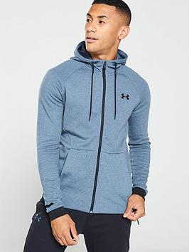 under-armour-unstoppable-2x-mens-full-zip-hoodie-ndash-greyblack