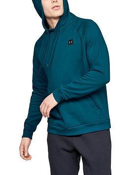 under-armour-rival-fleece-pullover-hoodie-tealblack
