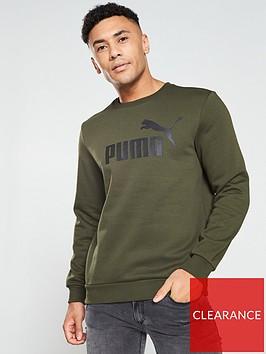 puma-elevated-ess-big-logo-crew-sweat-khaki
