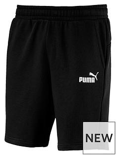 puma-essentials-sweat-shorts-black