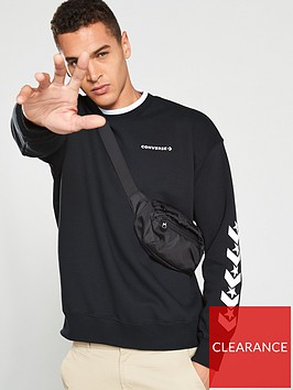 converse-repeated-star-chevron-mock-neck-crew-black